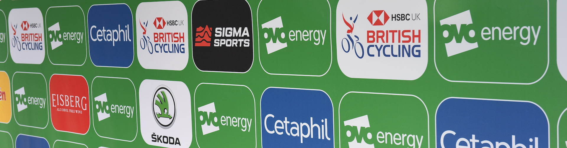 Sponsor's logos for the Tour of Britain are displayed.